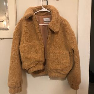 Urban Outfitters Brown Womens Teddy Coat